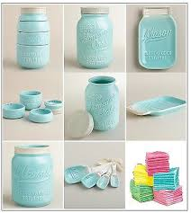 Kitchen Decor Set Mason Jar Measuring Cups Spoons Cookie Spoon Rest Towels