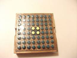 Travel Size Game REVERSI Or Othelo Othello Wooden Board Pieces
