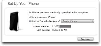 How do I restore my Apple iPhone Ask Dave Taylor
