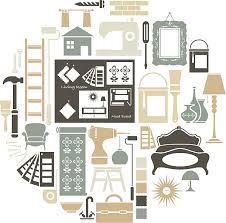 Interior Design Icon Set Vector Art Illustration