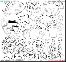 Extraordinary Cartoon Sea Animals Coloring Pages With Underwater Inside Creatures