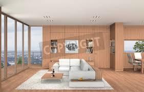 fictitious 3d rendering zeigt ein modernes wohnzimmer und esszimmer bilder myloview
