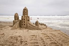 Sand Castle At The Beach