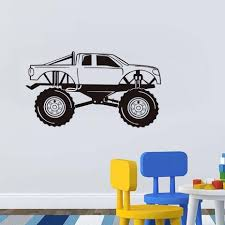 Monster Truck Wall Decal Vinyl Racing Car Stickers Art Murals Garage ... Monster Truck Wall Decal Personalized Name For Boys Room Decor With Decalmonster Decorwall Etsy Vinyl By Homesweetwalls On 5800 Red Blue Sticker Transport Sport Decals Stickers Car Pickup Garage Megalodon Huge Officially Licensed Jam Removable Wallpops Multicolor Outrageous Trucks Decalwpk2576 The Home Lightning Mcqueen Grave Digger Pack Decalcomania Cars And Warrior Giant Dragon Launch Os_mb592