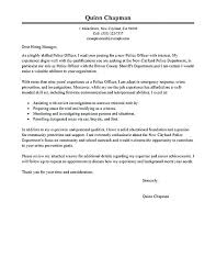 Police Cover Letters Law Enforcement Letter Resume No Experience