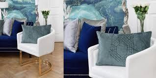wohnzimmer in weiß gold blau instashop