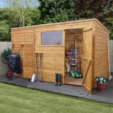 6 X 5 Apex Shed by Mercia Shiplap Pent Shed With Single Door 6 X 10 1 79m X 3 12m