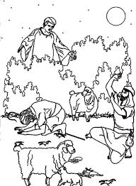 Bible Tells A Christmas Story About The Coming Of Savior Coloring Pages