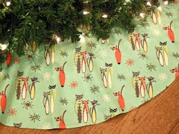 Christmas Tree Toppers Etsy by Mid Century Modern Christmas Tree Skirt With Cats Atomic