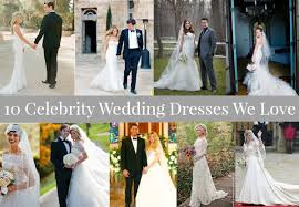 10 Celebrity Wedding Dresses Perfect For A Rustic