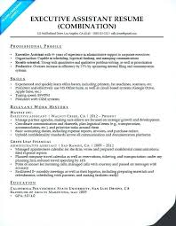 Administrative Assistant Resume Examples 2017 Executive Resumes Great Admin Sample
