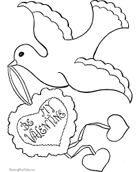 Free Happy Valentines Coloring Pages