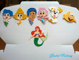 Bubble Guppies Cake Toppers by Bubble Guppies U0026 Ariel Cake U2013 Grated Nutmeg