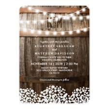 Custom String Lights Lanterns Wedding Theme Invitations