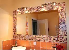 Brown Mosaic Bathroom Mirror by Best 25 Mirror Border Ideas On Pinterest Pallet Mirror Dyi