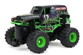 100 Monster Jam Rc Truck Bright Ff 4x4 Mini Grave Digger RC Car 1 43 Scale EBay