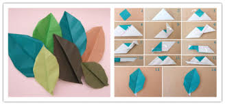 How To Make A Paper Flower Origami Step By Craft Leaves Instructions