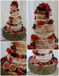 Rustic Raffia Sumptuous Fruit Naked Cake