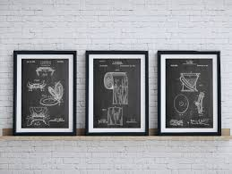 Bathroom Art Patent Posters Group Of 3 Wall Decor With Plan 8