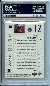 The Upper Deck Company Llc Linkedin by Lot Detail 2000 Sp Authentic 118 Tom Brady Rc Rookie Card Psa 9