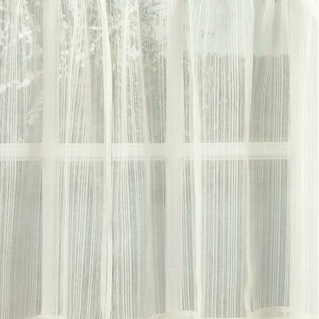 "Lorraine Home Harmony Kitchen Curtain: 24"" Tier Pair White"