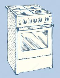 Stove Vector Drawing Stock