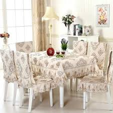 Dining Room Table Covers 5 7 Piece Luxury Cloth Set Lace Tablecloth Chair Cover For