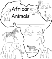 African Animals Printable Book For Early Readers