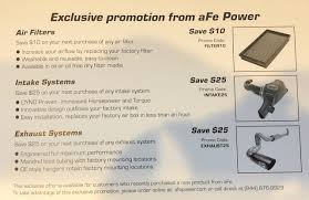 AFE Coupon Codes   Tacoma World Vanity Fair Outlet Store Michigan City In Sky Zone Covina 75 Off Frankies Auto Electrics Coupon Australia December 2019 Diy 4wd Ros Smart Rc Robot Car Banggood Promo Code Helifar 9130 4499 Price Parts Warehouse 4wd Coupon Codes Staples Coupons Canada 2018 Bikebandit Cheaper Than Dirt Free Shipping Code Brand Coupons 10 For Zd Racing Mt8 Pirates 3 18 24g 120a Wltoys 144001 114 High Speed Vehicle Models 60kmh