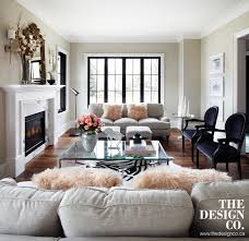 Parisian Chic Transitional Living Room Toronto by THE