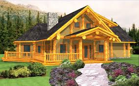 Large Log Cabin Floor Plans Photo by American Log Crafters Log Home Builder Plans Packages