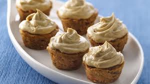 Mini Carrot Spiced Cupcakes with Molasses Buttercream