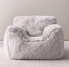 Luxe Faux Fur Bean Bag Chair