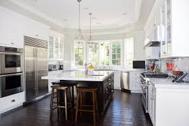 Hampton Bay Laminate Flooring Kitchen Traditional With Bell Pendants Breakfast Bar Ceiling Lighting Country Crown