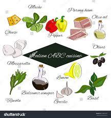 abc cuisine abc cuisine spices annd herbs stock vector 533807785