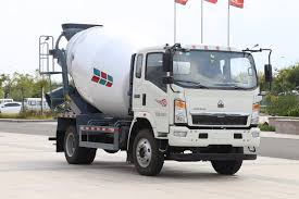 100 Light Duty Truck China Sinotruk HOWO 6m3 Concrete Mixer China