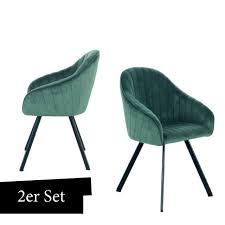 samt stuhl grün 2er set esszimmerstuhl wohnzimmer stühle