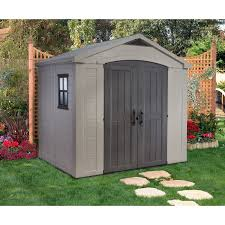 Keter Manor Plastic Shed 4 X 6 by Keter 213039 Factor 8 X 6 Ft Storage Shed Hayneedle