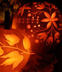 How To Carve An Amazing Pumpkin by Diy Tutorial For Illustrated Carved Pumpkins In A Flowery Way