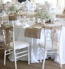 Add A Rustic Vibe To Your Wedding Chairs By Using Fabrics Like Hessian And Burlap These Can Be Used In Various Styles Simply Tied Knots Or