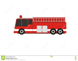 Mini Fire Department Truck Simple Illustration Stock Vector ...