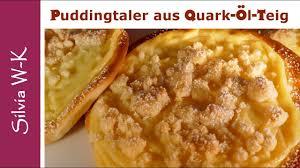 puddingtaler mit quark öl teig puddingteilchen lecker