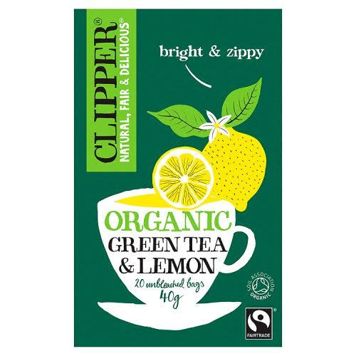 Clipper Organic Green Tea with Lemon - 20ct