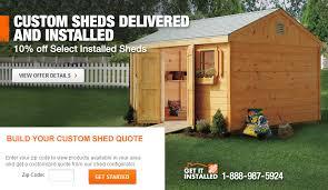 Do you charge a fee to install a backyard storage shed