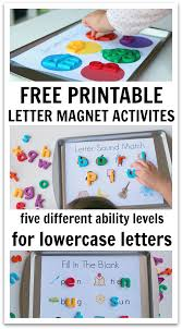 5 Ways To Use Magnetic Letters & Free Printables No Time For