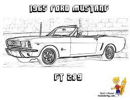 65 Ford Mustang GT Car Picture Coloring At YesColoring