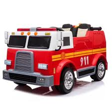 100 Kids Electric Truck New Alison C07010 Fire Toy Ride On Car Boys Toy