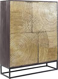 kare design schrank circulo massivholz schrank verzierter glamuröser schrank für esszimmer oder wohnzimmer kunstvoller schrank h b t 150x120x40
