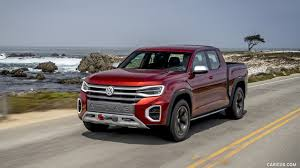 2018 Volkswagen Atlas Tanoak Pickup Concept - Front Three-Quarter ...