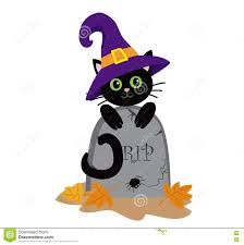 Funny Halloween Tombstones For Sale by Funny Black Cat And The Tombstone Halloween Stock Vector Image